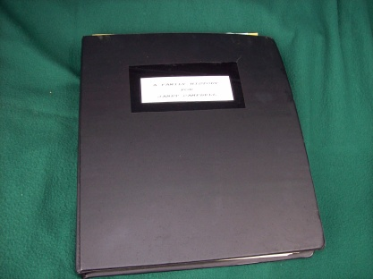 Looseleaf binder front