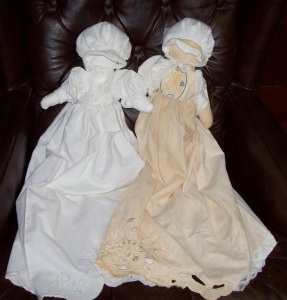 two pillowcase dolls